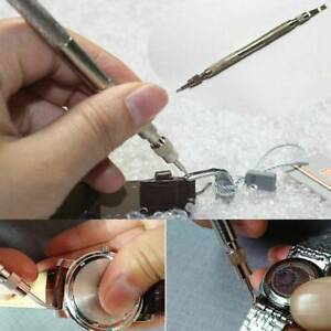Metal-Watch-Band-Strap-Spring-Bar-Link-Pin-Remover-Reparatur-Werkzeug-Kit-mit-4-Pins