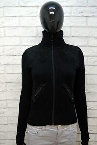 LEVI-039-S-Maglione-Taglia-XS-Lana-Cardigan-Donna-Pullover-Sweater-Woman-Nero