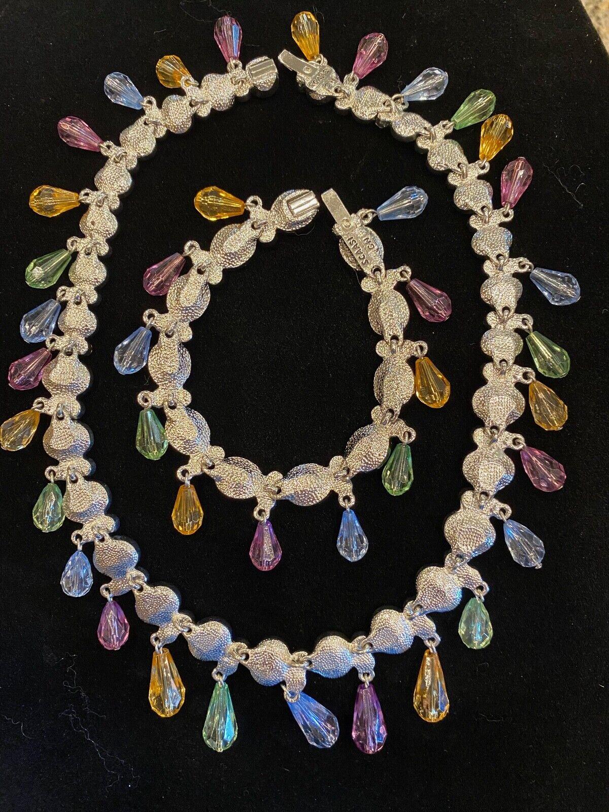 Vintage Arnold Scaasi Multi Color Crystal Necklac… - image 7
