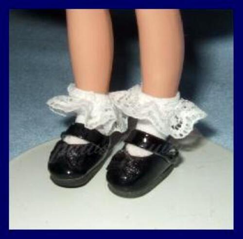 "BLACK Patent Mary Jane SHOES fit 8/"" TINY BETSY McCALL Kickits FREE U.S.SHIPPING"