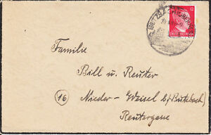 Germany Sc 513 on 1941 Mourning Cover, GITZBACH Pictorial Cancel