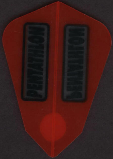 3 per set Mini Red PENTATHLON Standard Dart Flights