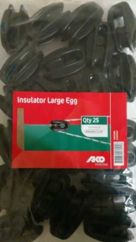 Cerca Eléctrica esquina negro grande huevo aislante 75 Pack Ako