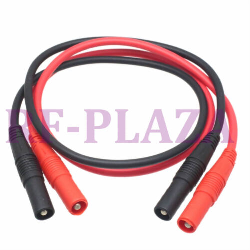 Cable Security Insulation Banana plug to banana male Test Probe 50CM