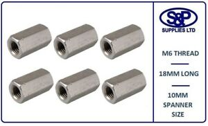 M6-STAINLESS-STEEL-HEXAGON-DEEP-NUT-SCREWED-ROD-CONNECTOR-10MM-SPANNER-18MM-LONG
