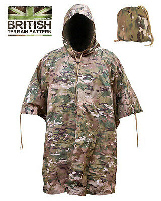 Zip Zap Zooom Mens British Army Combat Military Waterproof Nylon Hooded Rain Jacket Camo Smock