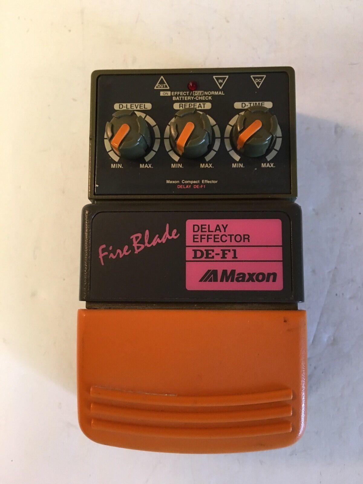 Maxon De-F1 Fire Blade Digital Verzögerung Selten Retro Gitarren Effekt Pedal