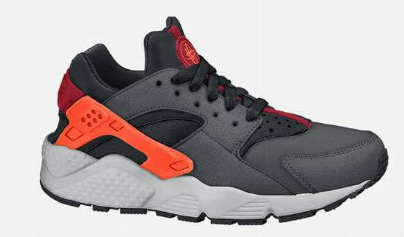 2018 NIKE AIR HUARACHES RUN RUN RUN gris WMN/BYS/GRLS TRAINER gris /HYPER CRIMSON/BLK/RED 6926b0