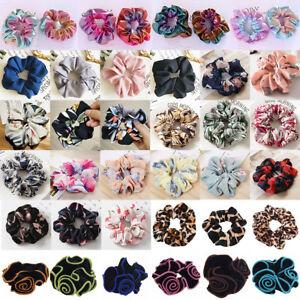 Ladies-Womens-Girls-Hair-Scrunchies-Bun-Ring-Elastic-Scrunchie-Donut-Accessories