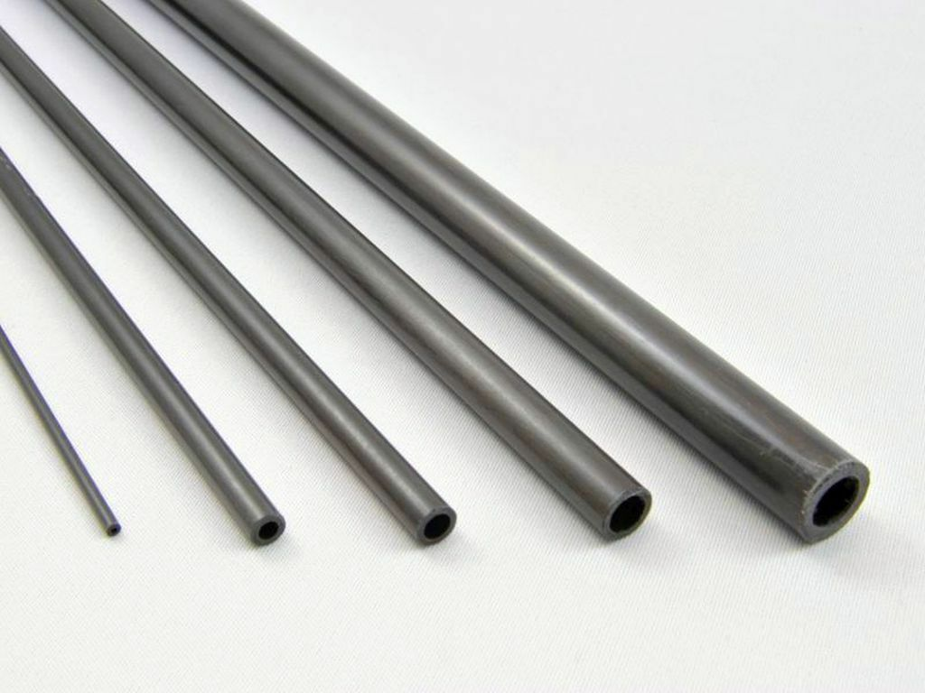 5x 12mm OD x 10mm ID x 800mm Pultruded Carbon Fibre Tubes (T12)