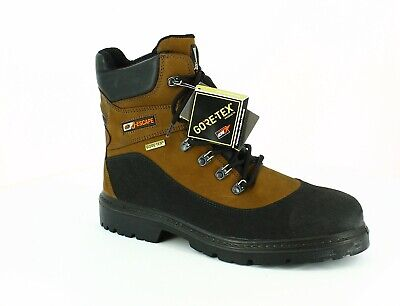 SIZE 7 JALLATTE JALHUSKEY STEEL BROWN SUEDE LEATHER SAFETY TOE CAP WORK BOOTS