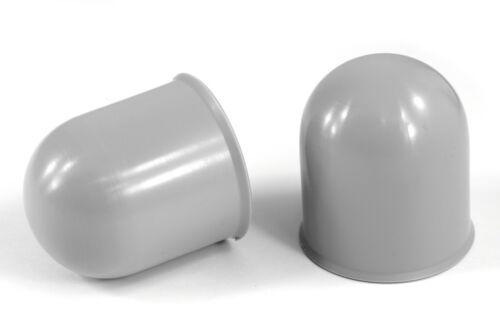 2x 50mm Gray Tow Ball bar Cover Cap Towing Car Caravan Trailer Towball Hitch x2