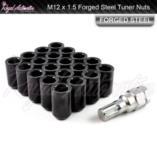20x BLACK Sintonizzatore DADI DELLE RUOTE M12x1.5 per Honda Mazda Ford Toyota Lexus Mitsubishi