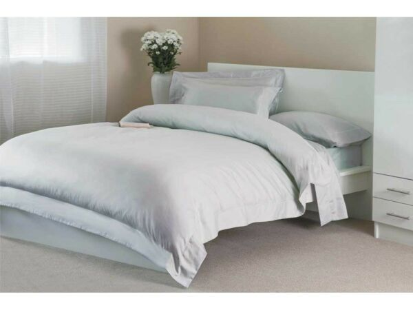400 Tc Single Ply Egyptian Cotton Pair Oxford Pillow Cases In Platinum Grey Pure En Milde Smaak