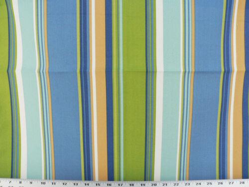 Blue Drapery Upholstery Fabric Indoor//Outdoor Westport Cabana Stripe