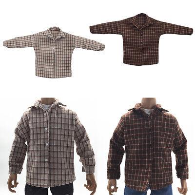 2pcs 1//6 Scale Male Figure Plaid Shirt for 12inch Kumik Hot Doll Clothing