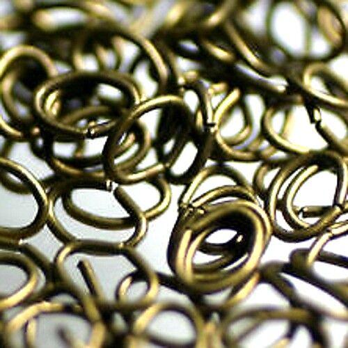 "4.5//6 mm OVALES 50 Anneaux Simples /""Bronze/"""
