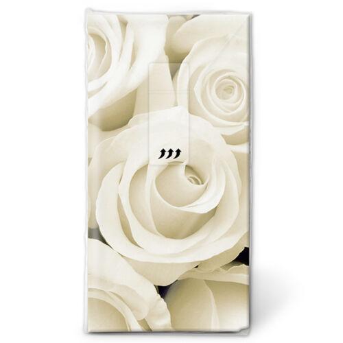 """Taschentücher 10 Stück für die Freudentränen Hochzeit /"""" Wedding Roses/"""" 01363"""
