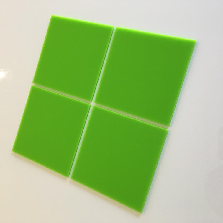 Lime Grün Gloss Acrylic Square Crafting Mosaic Wall Tiles Größes 1-20cm 1 -7.9