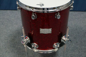 """MAPEX Saturn Floor-Tom 14x14"""" in Red Sparkle high gloss, lackiert"""