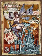 Steampunk Empire, Alchemy, Gothic, Fairy, Engine, Medium Metal/Tin Sign, Picture
