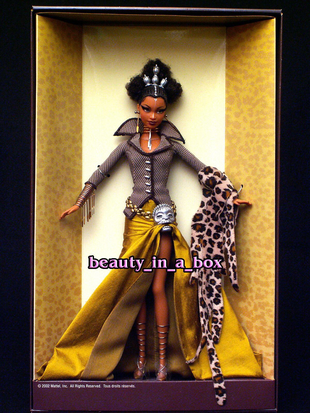 Muñeca Barbie Tatu tesoros de África Byron Lars African American AA en muy buena condición nunca quitado de la Caja