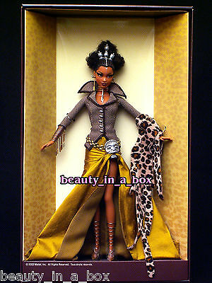 """Tatu Barbie Doll Treasures of Africa Byron Lars African American AA VG NRFB """""""