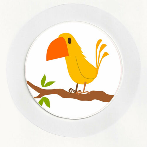 Funny Tropical Bird Car Tax Disc Holder Permit REUSABLE Gift Brand New