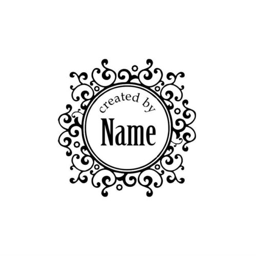 PERSONALIZED  CUSTOM NAME HANDMADE RUBBER STAMPS  HANDLE MOUNTED C14
