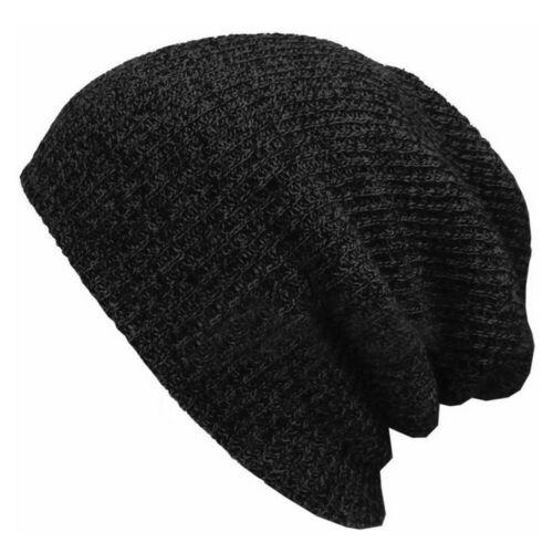 Men Women Unisex Knit Baggy Beanie Winter Hat Ski Slouchy Chic Knitted Cap Cool