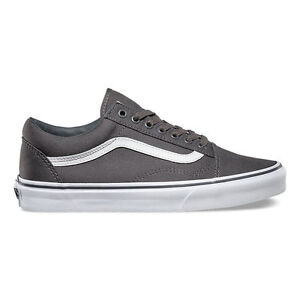 53e59ccb29b3 Vans Old Skool Pewter True white(Grey) Skateboarding Shoes Canvas VN ...