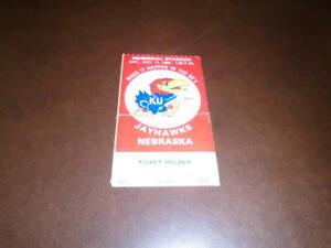 1980 NEBRASKA AT KU KANSAS COLLEGE FOOTBALL TICKET STUB | eBay