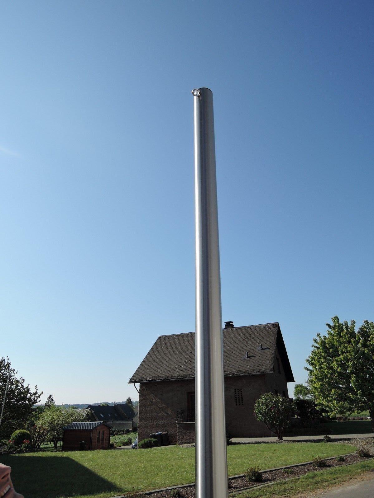 Sonnensegelmast Edelstahl 3m ∅80mm Pfosten Sonnensegel Halter VA Neu  8030 2-1