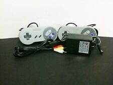 AC Adapter Power Cord & AV Video Cables & 2 Controllers for Super Nintendo SNES