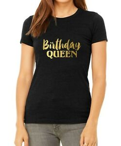 e0528a231a58 Bella Canvas Birthday Queen Shirt Bday Girl T-Shirt Gift For Her ...