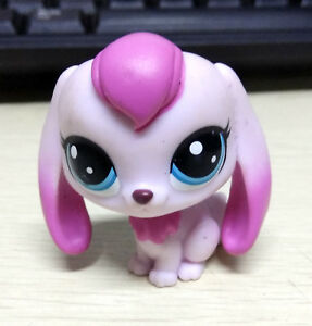 Hasbro-Littlest-Pet-Shop-LPS-Pink-Squad-Dog-Puppy-Blue-Eyes-Figure-Doll-Toy-Gift