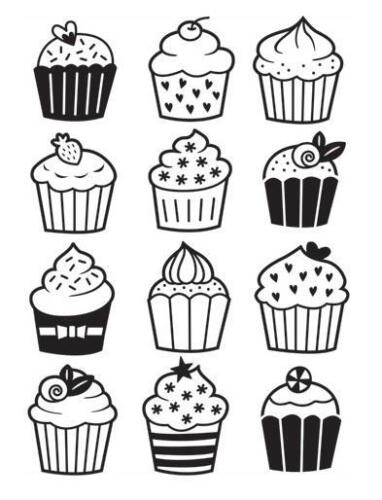 4.25x5.75 Darice Embossing Folder CUPCAKES Birthday Party Bake Sale 30032587