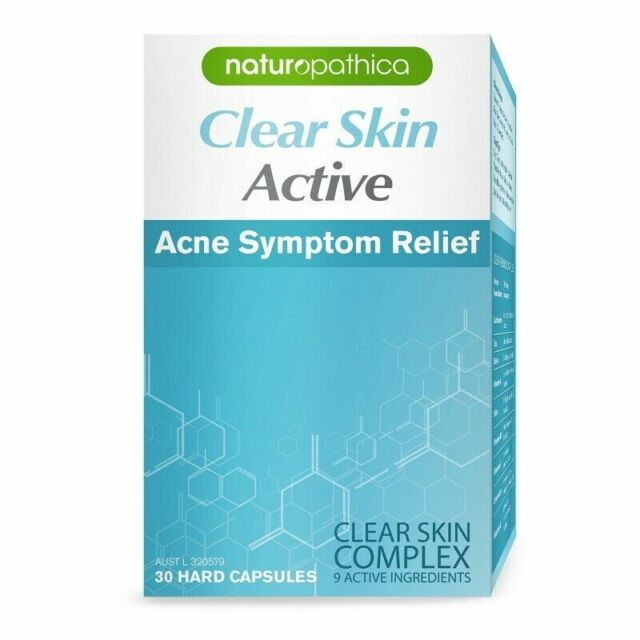 Naturopathica Active Acne Symptom Relief Clear Skin  30 Capsules