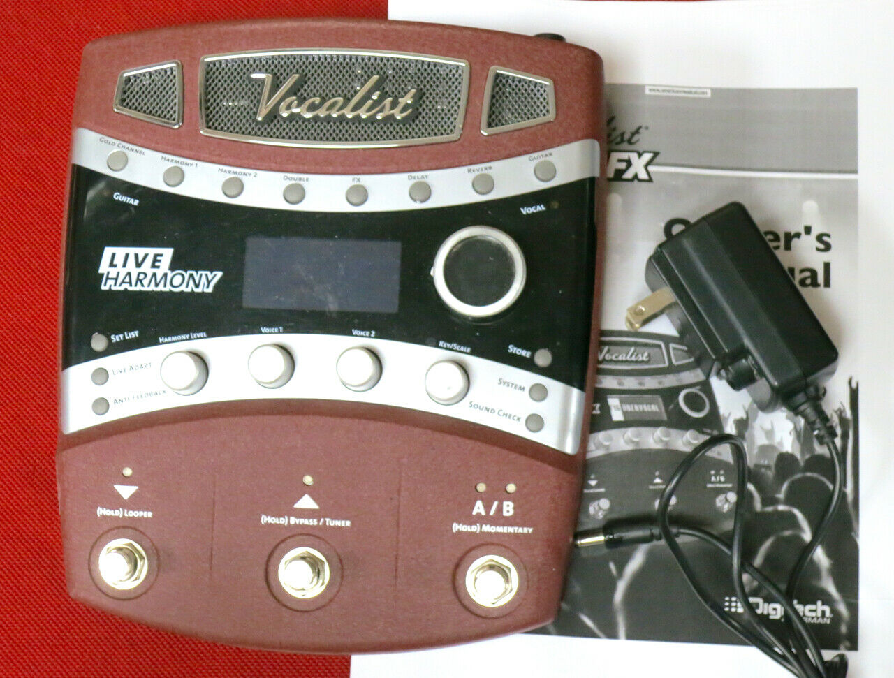 Digitech Vocalist Live FX VLFX VL-FX Harmony vocal effects processor pedal