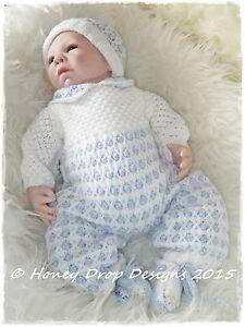 4a1ba25fd Honeydropdesigns LOGAN   PAPER KNITTING PATTERN   Reborn Baby Romper ...