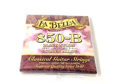 La Bella Guitar Strings  Nylon #850B Black Nylon Elite Golden Alloy Classical