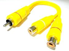 RCA 1 Male to 2 Female Audio Video Y Splitter Cable Adapter