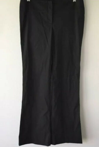 Theory Womens Black Work Pants Trousers Cotton Ble