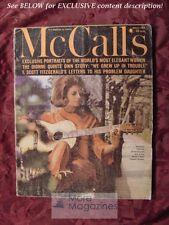 MCCALLs October 1963 Oct 63 CELEBRITY FOOD PHILIPPE HALSMAN ELEGANT WOMEN +++