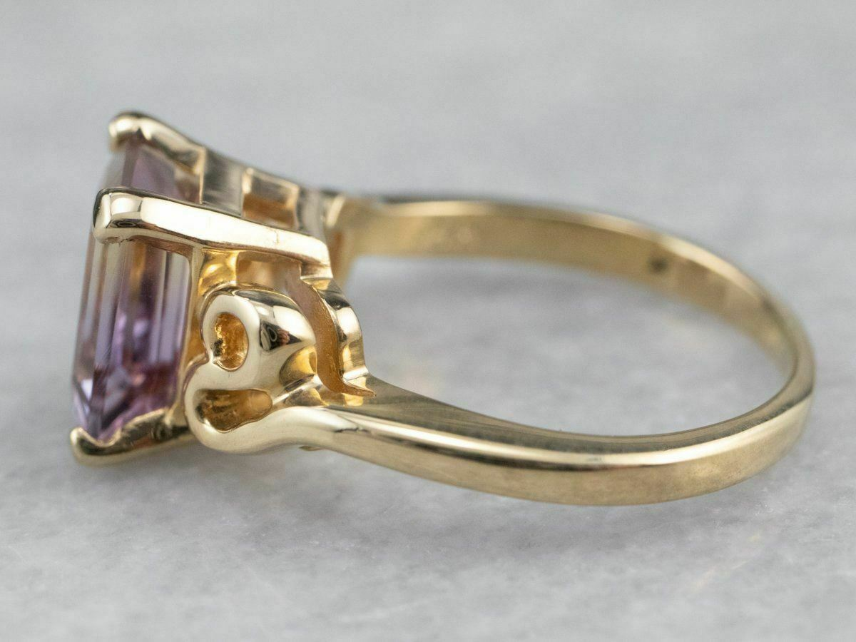 Ametrine Gold Solitaire Ring - image 4