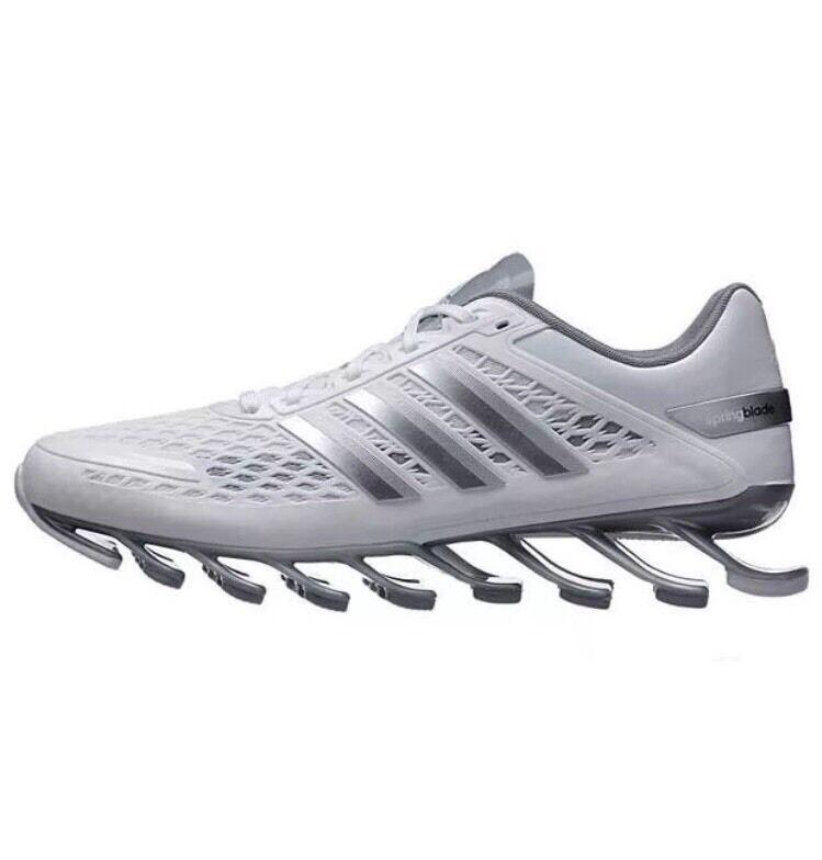 Adidas Springboard Razor Running Mens Shoes Sz 7 White Metallic Silver Grey
