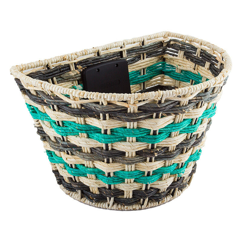 Sunlite Rope Wave QR Bicycle Basket-Teal-14.5 x 10.25 x 9