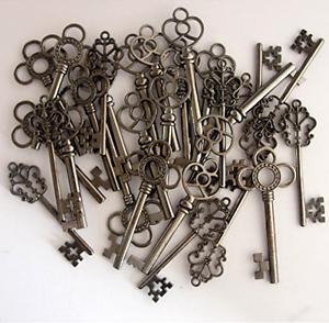 Amazon.com: Salome Idea Skeleton Key Set in Antique Silver (30 ...