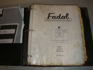 Details about Fadal VMC 906-1 Users Manual
