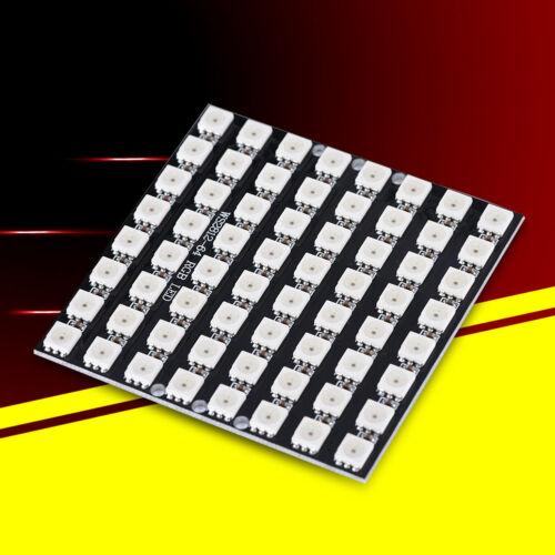 64Bit WS2812 Matrix LED 5050 RGB Full-Color Driver Development Board for Arduino
